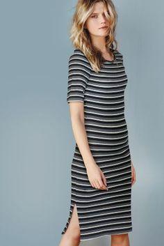 e1517126ccb Платье в рубчик цвета металлик - Покупайте прямо сейчас на сайте Next   Украина