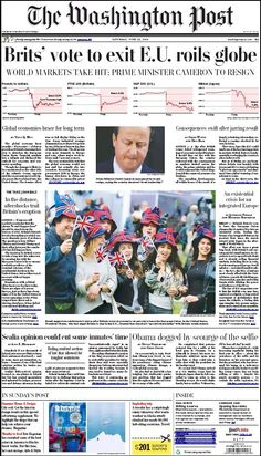Brexit front pages - in pictures