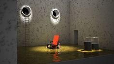 "Samuel Beckett´s ""Endgame"" set design. Emilio L-Galiacho, 2009"