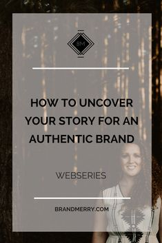 I learned early on that branding HAS got to be more than just design, it  has to be about purpose, and good quality storytelling. That's why I  created a signature course called Your Authentic Brand, where I give you  the tools to take your story and turn it into a brand that is a true  reflecti
