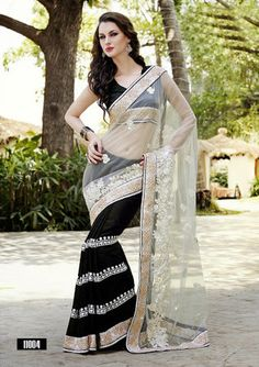 Black With Beige Netted & Jacquard Indian Sarees Online Bridal Sarees Online, Bollywood Sarees Online, Bollywood Designer Sarees, Bollywood Lehenga, Indian Designer Sarees, Indian Sarees Online, Half Saree Function, Buy Designer Sarees Online, Saree Models