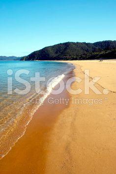 Totaranui Seascape, Abel Tasman National Park, New Zealand royalty-free stock photo