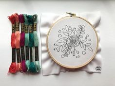 Embroidery Patterns Discover Embroidery Kit Beginner Embroidery Hoop Art Hand Embroidery Kit Modern Cross Stitch Embroidery Pattern Gift for Her Hoffelt and Hooper Embroidery Kit Beginner Embroidery Hoop Art Hand Embroidery Hand Embroidery Flowers, Dmc Embroidery Floss, Embroidery Flowers Pattern, Simple Embroidery, Embroidery Patterns Free, Hand Embroidery Stitches, Modern Embroidery, Embroidery Hoop Art, Embroidery Designs