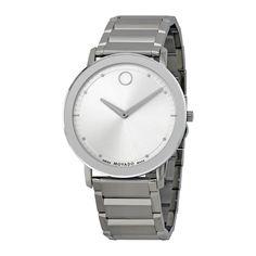 Movado Sapphire Steel Bracelet Men's Watch 0606881
