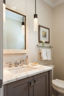 Powder Rooms & Small Bath Ideas - transitional - powder room - boston - by Roomscapes Luxury Design Center
