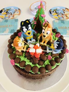 Camping Birthday Cake, 6th Birthday Cakes, Backyard Birthday, Birthday Cake Girls, Birthday Ideas, Bingo Cake, Campfire Cake, Diy Cake, Girl Cakes
