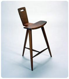 Stool by Tage Frid furniture maker and teacher.Many of his students went on to be very successful and nationally known professionals.