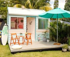 This adorable surf garden shed allows you to feel like you are on vacation year round!