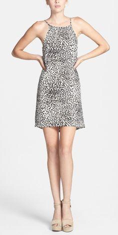 Love this animal print dress.