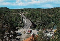 Østfold fylke Halden kommune Svinesund 1967 Svinesundbrua mellom Sverige og Norge. Bildet tatt fra svenskesiden