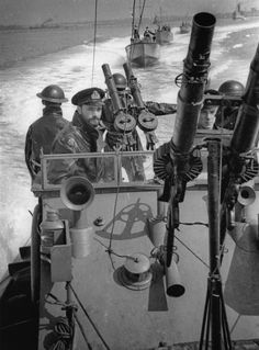 British patrol boats out to sea to patrol the English Channel.