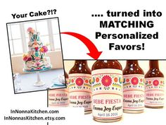 Match your Cake Party Decoration with unique by InNonnasKitchen