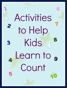 Activities to Help Kids Learn to Count