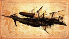 Steampunk Tendencies | Steampunk Airship - A.J. Hateley  #airship