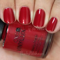 CND VINYLUX Tartan Punk | Fall 2015 Contradictions Collection | Peachy Polish #red