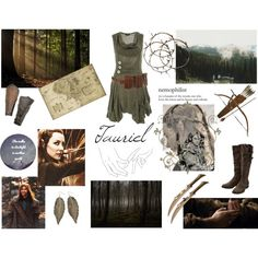 Tauriel by sally-plouffe-writerr on Polyvore featuring M&Co, Linea, Hello Darling, Murphy, TheHobbit and tauriel