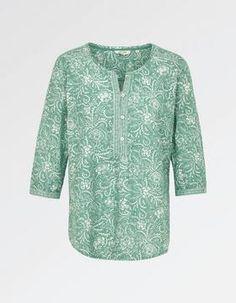 Jenny Intricate Floral Popover. £38.00 Fatface  http://www.fatface.com/tops+t-shirts/jenny-intricate-floral-popover/invt/921503#ff_colour=Ocean%20Surf