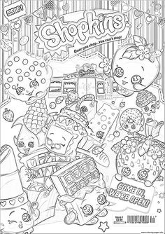 print shopkins we are open coloring pages - Free Printable Coloring Page