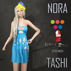 TASHI Nora | The second round at FABULOUS! Your shopping experience organized by MISS SL Organization just began  For this event we are releasing 3 new items  1.- TASHI Nora Mesh dress that comes in 5 fitted sizes and also a size for SLink, Maitreya and Belleza Body  This event is from August 15th until September 5th and the landmark to go is maps.secondlife.com/secondlife/Disco%20Italy/170/130/176