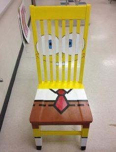 Spongebob stoel! Ik word hier vrolijk van.