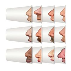 The Pick Your Nose Party Cups by Fred & Friends are a set of 24 funny paper drinking cups that have photo-realistic images of noses printed on the side. Buffet, Save On Crafts, Party Cups, Packaging, Blog Deco, Make Me Smile, Party Planning, Party Time, Designer