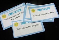 Summer Fun Coupons @Allison j.d.m j.d.m @ No Time For Flash Cards ! What a great idea!