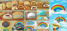 My little pony party steps to make rainbow cake