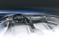 VW New Midsize Coupé: Peking 2014