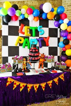 My Parties Lachlan's Five Nights at Freddy's Pool Party Five Nights At Freddy's, Freddy S, 10th Birthday Parties, Birthday Party Decorations, Party Favors, Birthday Ideas, Fnaf Cakes Birthdays, Party Time, Party Ideas
