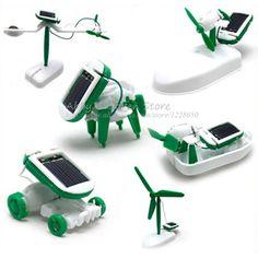 6 En 1 DIY Creativo Robot de Juguete Energía Solar Toy Robot Transformación Mágica Energía de La Batería Solar de Juguetes Educativos de Aprendizaje