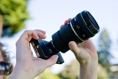 An SLR lens mount for your iPhone! It essentially turns your iPhone into a DSLR.