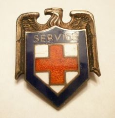 WWII Service pin - also called the Malvina Hoffman pin worn by paid staff members in overseas services on their civilian attire