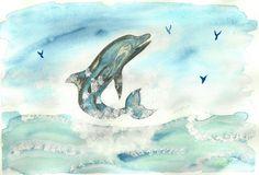 Aquarelle dauphin