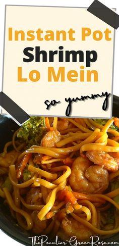 We love Instant Pot Shrimp Lo Mein! | Instant Pot Lo Mein | Instant Pot Lo Mein Noodles | Easy Instant Pot Lo Mein | Instant Pot Lo Mein Recipe | Healthy Instant Pot Lo Mein | Instapot Lo Mein | Instapot Lo Mein Recipe | Instapot Lo Mein Noodles | Easy Instapot Lo Mein | Best Instant Pot Lo Mein | Simple Instant Pot Lo Mein | Instant Pot Shrimp and Noodles | Instant Pot Shrimp Recipes | Instant Pot Shrimp | Instant Pot Shrimp Pasta | #instantpot #instantpotshrimp #lomein Shrimp Recipes, Copycat Recipes, Pork Recipes, Slow Cooker Recipes, Dinner Recipes Easy Quick, Quick Easy Meals, Easy Recipes, One Pot Dinners, Cheap Dinners