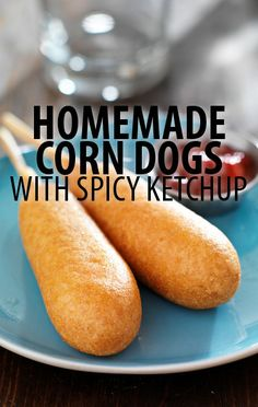The Chew: Michael Symon Corn Dogs Recipe with Lola Spicy Ketchup. I would add a tad more sugar the next time. The Chew Recipes, Great Recipes, Dog Food Recipes, Cooking Recipes, Favorite Recipes, Kid Recipes, Recipe Ideas, The Chew Show, Chorizo