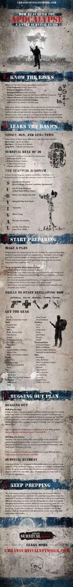 Survival Skills: Survival Info-graphics. Useful tips, hacks, ideas, and information for survival prepper. Survival Gear and Prepping Ideas | Survival Life | http://survivallife.com/2014/03/03/survival-infographics/
