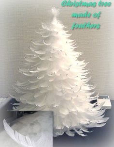 Christmas tree made of feathers