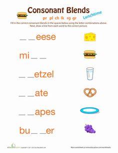 breakfast consonant blends english consonant blends and words. Black Bedroom Furniture Sets. Home Design Ideas