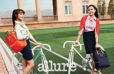 APINK EUNJI AND NAEUN FALL FASHION AT ALLURE MAGAZINE