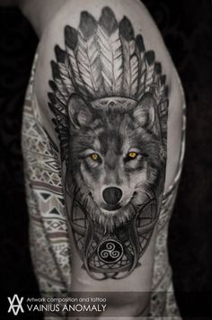 wolf and chief tattoo - Google Search