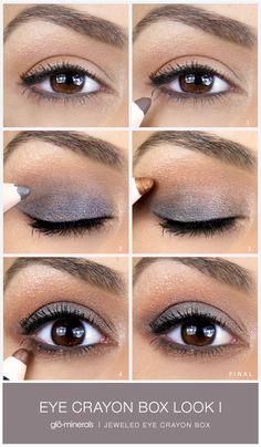 Jeweled Eye Crayon Box Look I by a blend of warm and cool tone shadows. Makeup Tips, Eye Makeup, Hair Makeup, Beauty Tutorials, Makeup Tutorials, Beauty Skin, Hair Beauty, Makeup Articles, Crayon Box