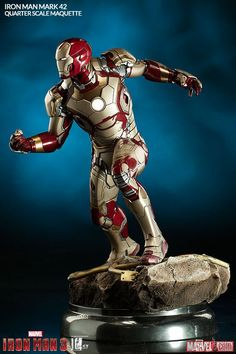 Sideshow Collectible's Quarter-Scale Iron Man Mark 42 Maquette.