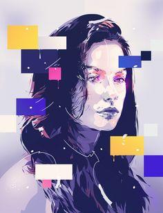 Canvas portrait illustrations by Bram Vanhaeren