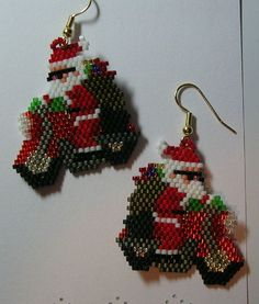 christmas women jewelry: beaded earrings | make handmade, crochet, craft