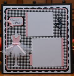 Ballet scrapbook page by A Page