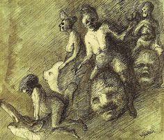 Figurative, erotic, and surreal artwork from the past and present, selected by Eric Penington. Macabre Art, Danse Macabre, Alfred Kubin, Art Nouveau, Surreal Artwork, Creepy Art, Illustrations, Dark Art, Art Blog