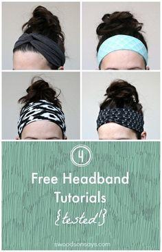 4 Free Headband Tutorials Tested