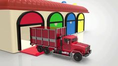 Colored Trucks from Garage animation for kids Little Bus, Funny Songs, 3d Animation, Nursery Rhymes, Funny Kids, Garage, Trucks, Youtube, Carport Garage