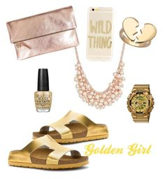 Gold-toned fashion f