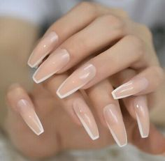 French Tip Nail Designs, Acrylic Nail Designs, Fake Nails French, White Tip Acrylic Nails, Milky Nails, Clean Nails, Glue On Nails, Gel Nails, Press On Nails